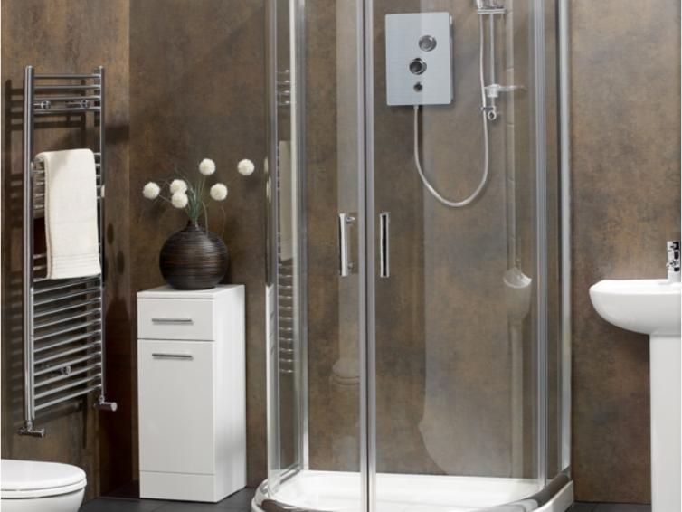 Кабинки для душа можно выбрать через гаджет и создать современный интерьер ванной!